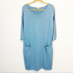 Pure Jill cashmere blend shift dress size M